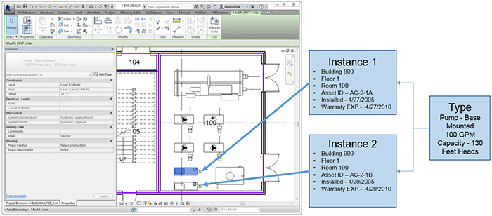 type versus instance parameters screenshot - Revit Tips Part 3 - The difference between Revit Type and Instance Parameters
