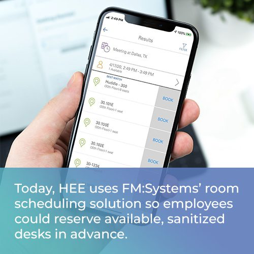 desk booking solution - Health Education England Success Story