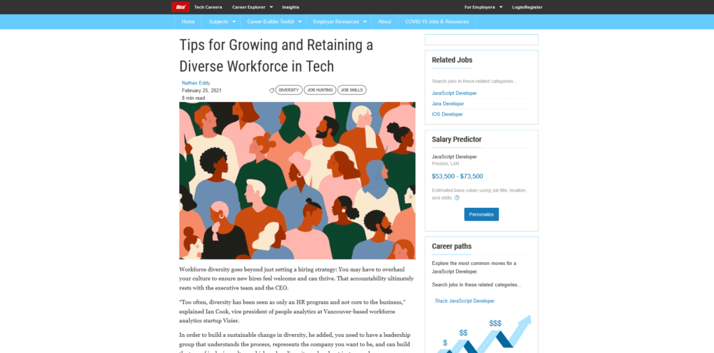 """Dice tips for growing retaining diverse workforce tech 1024x506 - <span style=""""color: #51b6bd;"""">Dice Insights: Tips for Growing and Retaining a Diverse Workforce in Tech"""